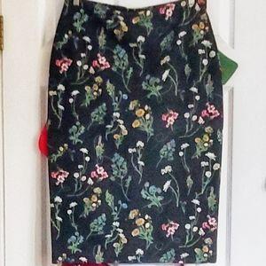 Sanctuary Floral Pencil Skirt